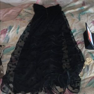 Betsey Johnson  black strapless dress